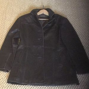 Leather coat 3/4 length.  Gallery size M